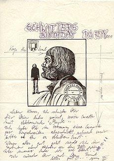 Andrzej Dudek-Dürer: Brief mit Siebdruck